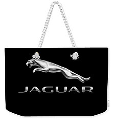 Weekender Tote Bag featuring the photograph Jaguar Logo by Ericamaxine Price