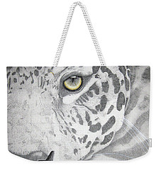 Weekender Tote Bag featuring the drawing Jaguar by Mayhem Mediums