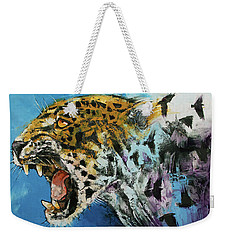 Jaguar Weekender Tote Bag by Michael Creese