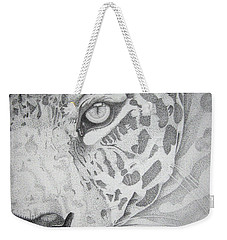 Jaguar Pointillism Weekender Tote Bag by Mayhem Mediums