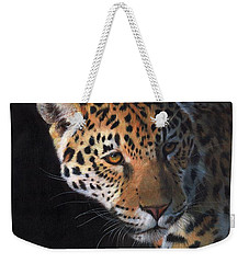 Jaguar Portrait Weekender Tote Bag by David Stribbling