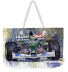 Jaguar R3 Cosworth F1 2002 Eddie Irvine Weekender Tote Bag