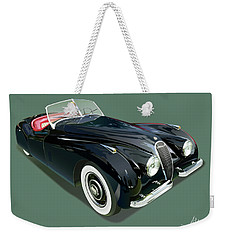 Jaguar Xk 120 Illustration Weekender Tote Bag