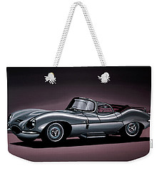 Jaguar Xkss 1957 Painting Weekender Tote Bag by Paul Meijering