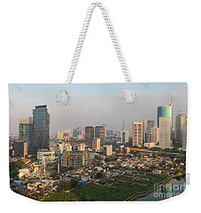 Jakarta Urban Skyline In Indonesia Weekender Tote Bag