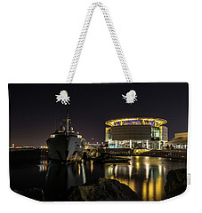 Weekender Tote Bag featuring the photograph Jamaica Bay At Discovery World by Randy Scherkenbach