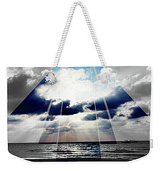 Jamaica Sunset Art Deco Bw With Color Weekender Tote Bag