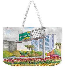Jamboree Rd. Freeway 405 Exit Sign In Irvine, California Weekender Tote Bag