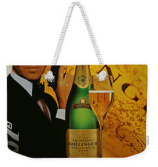 James Bond Ad 1995 Weekender Tote Bag by Andrew Fare