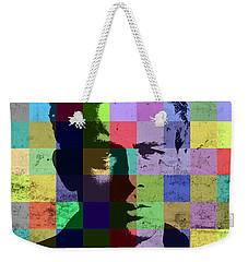 James Dean Actor Hollywood Pop Art Patchwork Portrait Pop Of Color Weekender Tote Bag by Design Turnpike