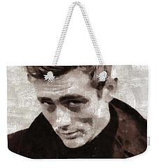 James Dean By Mary Bassett Weekender Tote Bag