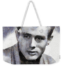 James Dean By Sarah Kirk Weekender Tote Bag