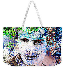 James Dean In Pop Art Weekender Tote Bag by Annie Zeno