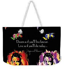James Dean Weekender Tote Bag by Mo T
