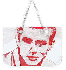 James Dean Pop Art Weekender Tote Bag