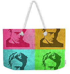James Dean Vintage Pop Art Weekender Tote Bag