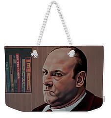 James Gandolfini Painting Weekender Tote Bag by Paul Meijering
