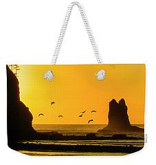 James Island And Pelicans Weekender Tote Bag