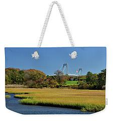 Jamestown Marsh With Pell Bridge Weekender Tote Bag