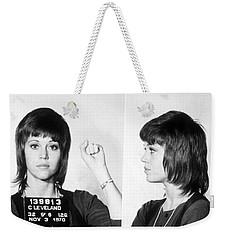 Jane Fonda Mug Shot Horizontal Weekender Tote Bag