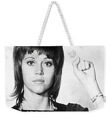 Jane Fonda Mug Shot Vertical Weekender Tote Bag