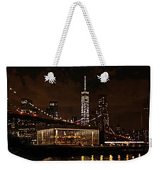 Jane's Carousel  Weekender Tote Bag by Karen Silvestri