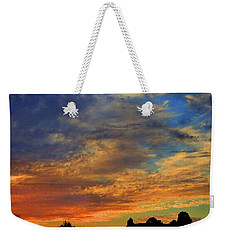 Weekender Tote Bag featuring the photograph Jangly Sunset by Mark Blauhoefer