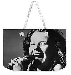 Janis Joplin (1943-1970) Weekender Tote Bag by Granger