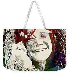 Janis Joplin Weekender Tote Bag by Mihaela Pater