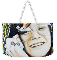 Janis Joplin Pop Art Portrait Weekender Tote Bag
