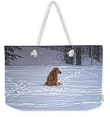 January Blizzard Weekender Tote Bag