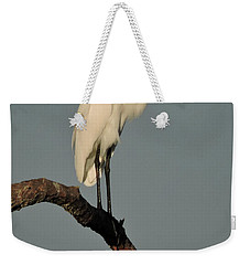 January Egret Weekender Tote Bag by Peg Toliver