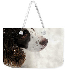 January Spaniel - English Springer Spaniel Weekender Tote Bag by Angie Rea
