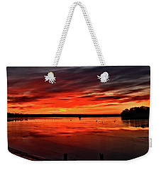 January Sunrise Onset Pier Weekender Tote Bag
