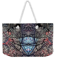 Weekender Tote Bag featuring the drawing Janus Entanglement by Jack Dillhunt