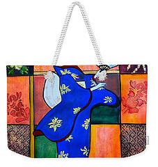 Japan Geisha Kimono Colorful Decorative Painting Ethnic Gift Decor Weekender Tote Bag