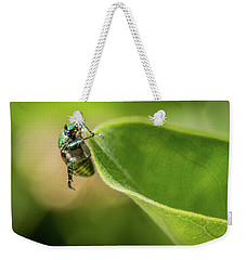 Japanese Beetle On Milkweed Weekender Tote Bag