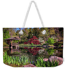Weekender Tote Bag featuring the photograph Japanese Garden At Maymont by Rick Berk