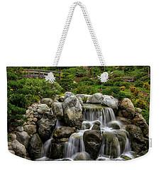 Japanese Garden Waterfalls Weekender Tote Bag