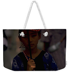 Japanese Girl Weekender Tote Bag