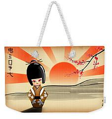 Japanese Kokeshi Doll Weekender Tote Bag
