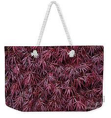 Japanese Maple Garnet Weekender Tote Bag