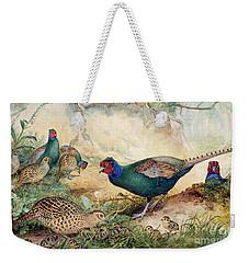 Japanese Pheasants Weekender Tote Bag