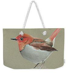 Japanese Robin Weekender Tote Bag by Gary Stamp