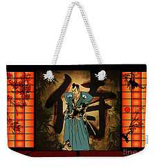 Weekender Tote Bag featuring the drawing Japanese Style by Andrzej Szczerski