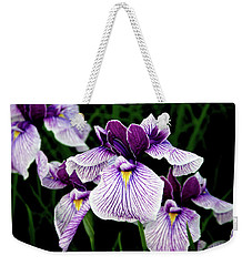 Japanese Water Iris In Purple 2714 H_2 Weekender Tote Bag