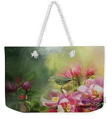 Japanese White-eye On A Blooming Tree Weekender Tote Bag