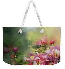 Japanese White-eye On A Blooming Tree Weekender Tote Bag