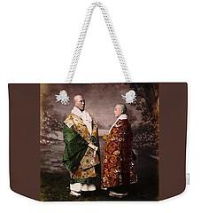 Japanese Zen Buddhist Priests Circa 1880 Weekender Tote Bag by Peter Gumaer Ogden