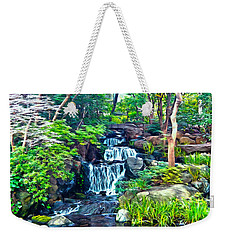 Japanese Waterfall Garden Weekender Tote Bag
